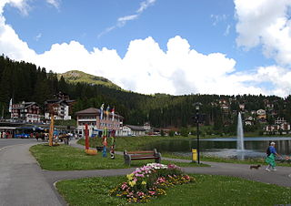 Arosa Place in Graubünden, Switzerland