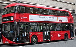 Arriva London bus LT2 (LT61 BHT) 2011 New Bus for London, Victoria, route 38, 27 February 2012.jpg
