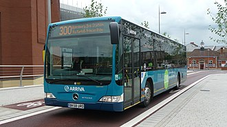 Single-deck bus - A single deck Arriva Low floor Mercedes-Benz Citaro.