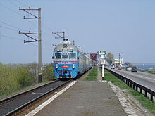 Arrival of a train, 2006.5.JPG