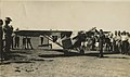 Arthur Butler and the Comper Swift aeroplane G-ABRE in field with crowd of onlookers, 1931.jpg
