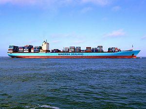 Arthur Maersk pic06 approaching Port of Rotterdam, Holland 08-Mar-2007.jpg
