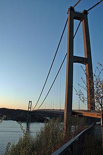 Askøy Bridge Suspension bridge crossing the Byfjorden in Norway