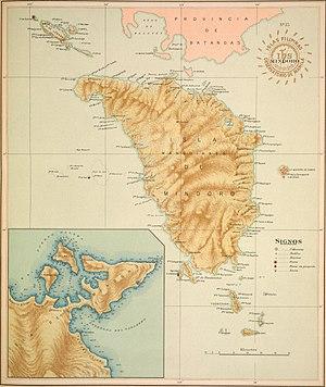 Mindoro - 1900 map of Mindoro Island