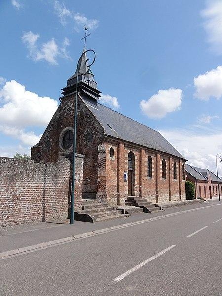Aubigny-aux-Kaisnes (Aisne) église Saint-Nicolas