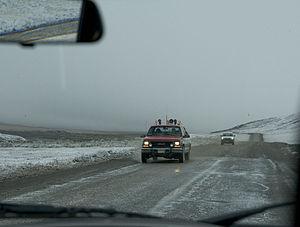 Dalton Highway - August snow storm on Dalton Highway