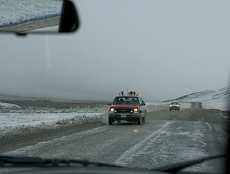 Dalton Highway - August snow storm on Dalton Highway