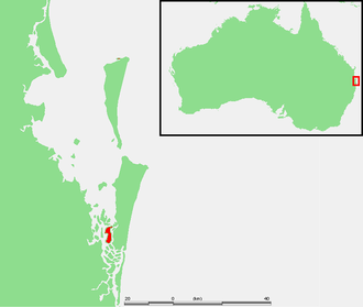 Russell Island (Moreton Bay) - Location of Russell Island