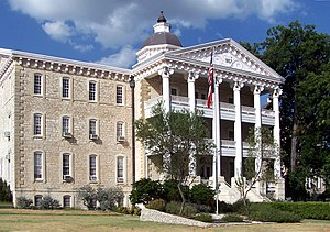 Austin State Hospital - The former State Lunatic Asylum is now the administration building for the Austin State Hospital campus.
