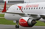 Austrian Airlines Embraer ERJ-195LR (OE-LWI) at Manchester Airport (2).jpg
