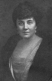 Black-and-white photo of a dark-haired woman