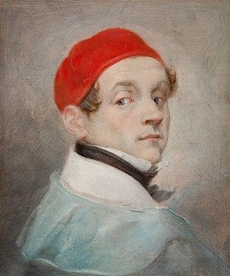 Rafał Hadziewicz - Self-portrait in Red Cap