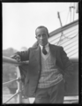 Aviator Ray Parer on the deck of the S.S. Montoror, New South Wales, ca. 1930s.png