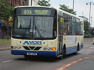 Avon Buses - Wright Crusader bodied Volvo B6LE in Birkenhead in June 2009
