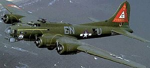 303d Air Expeditionary Group - Boeing B-17G of the 303d Bombardment Group showing Triangle C tail markings