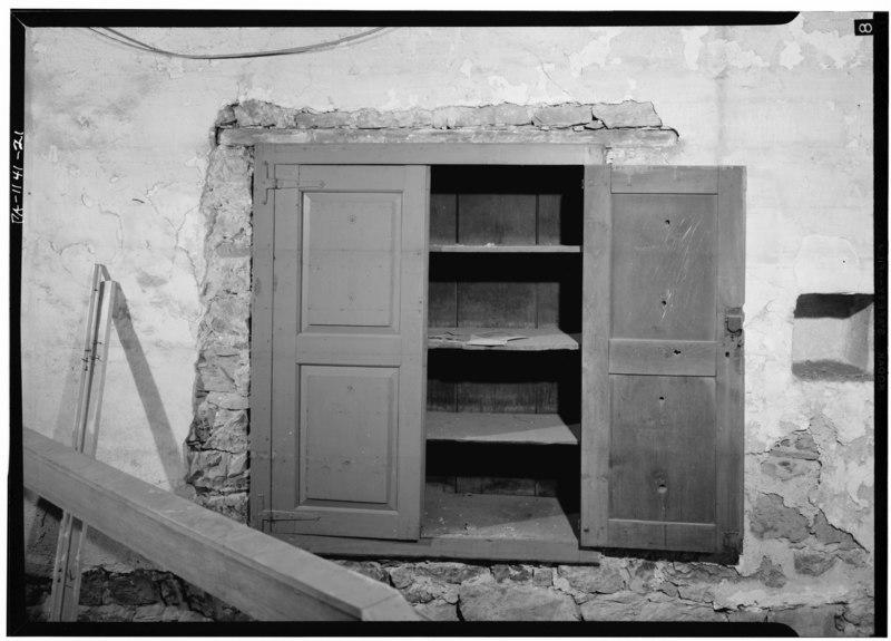 file basement of original building original cupboard open in east