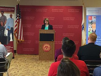 Berkshire Community College - President Ellen Kennedy speaking at Springfield Technical Community College.