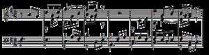 Goldberg Variations - First 8 bars of the fourth variation.