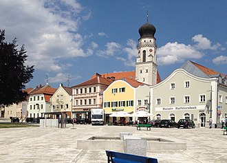 Bad Griesbach (Rottal) - Town square of Bad Griesbach