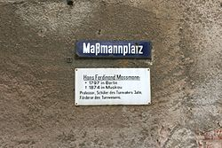Photo of Hans Ferdinand Maßmann white plaque