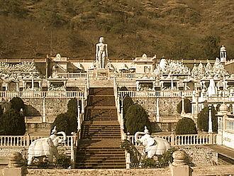 Kumbhoj - 28 feet Bahubali statue, Kumbhoj