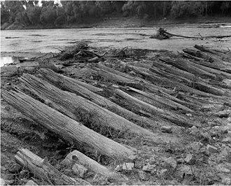 Bailey's Dam - Remnants of Bailey's Dam in 1984