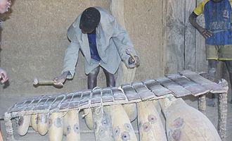 Balafon - A young balafon player, Mali
