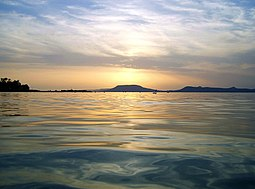 Sunset in Lake Balaton
