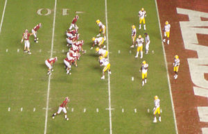 2009 Alabama Crimson Tide football team - Alabama's offense failed to score a touchdown in the red zone.