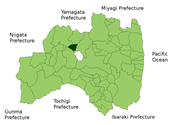 Location of Bandai in Fukushima