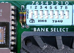 Bank switching - Image: Bank Select Switch on Cromemco Memory Board