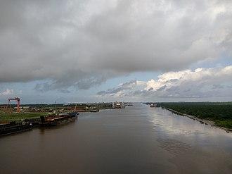 Baram River - The Baram River seen from the ASEAN Bridge