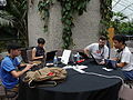 Barbican conservatory terrace at 5-15pm on Friday of Wikimania 2014 01.jpg