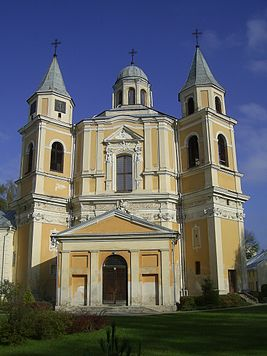 Baroque Church of Christ the Remeeder in Antakalnis, Vilnius, Lithuania.JPG
