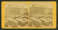 Barrels in front of a large building, by Adams, S. F., 1844-1876.png