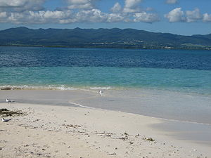 Basse-Terre Island - View from a beach at Sainte-Rose.