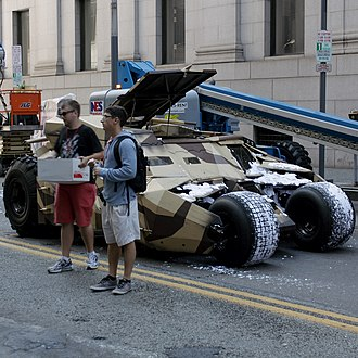 The Dark Knight Rises - A Tumbler on the set of The Dark Knight Rises in Pittsburgh