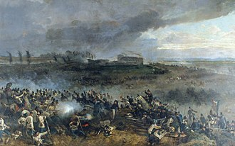 Battle of Solferino - Sardinian troops charge at San Martino  (by Luigi Norfini)