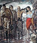 Battle-weary GIs And French Woman by Clark Hulings - 1956.jpg