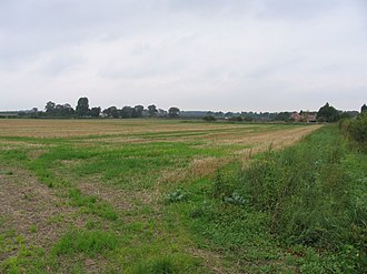 Battle of Stoke Field - Part of the battlefield at ground level