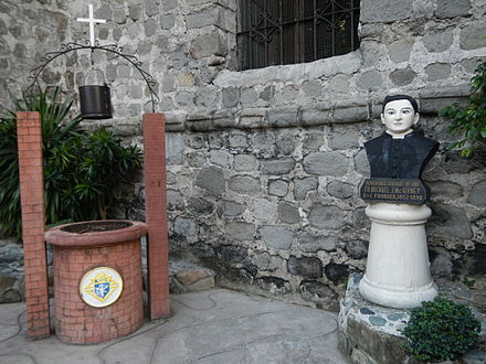Fr. Michael J. McGivney monument in Sts. Peter & Paul Parish Church, Bauang, La Union, Philippines BauangLaUnionChurchjf784.JPG