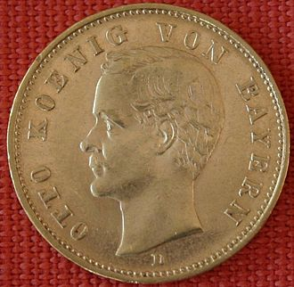 Otto of Bavaria - 20 Mark coin from 1905 with portrait of Otto