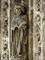Bazas (33) Cathédrale Saint-Jean-Baptiste Façade ouest Portail central 3ème voussure 08.JPG