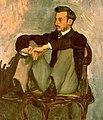 Bazille, Frédéric ~ Portrait of Renoir, 1867, oil on canvas.jpg