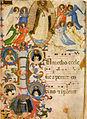Beato angelico, san domenico in gloria, c 67v, messale 558, 1430 circa, san marco, firenze.jpg