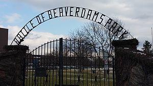 Battle of Beaver Dams - Beaverdams Park Thorold Entrance Gate