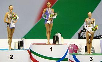 Yevgeniya Kanayeva - Kanaeva, gold medalist at the 2009 European Championships