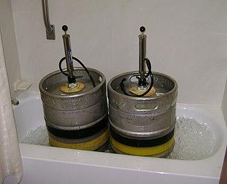 Beer tap - Beer kegs with taps.