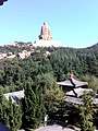 Behind the statue of the God of the Red Mountain (Chishanshen 赤山神) in Rongcheng, Weihai, Shandong (2).jpg