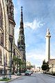 Bell Tower of Mt. Vernon Place U.M.C. and George Washington Monument.jpg